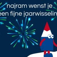 Digitale nieuwjaarskaart