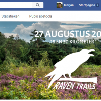 screenshot Facebookpagina Raven Trails