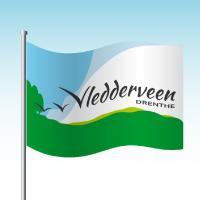 Vlag voor Vledderveen Drenthe