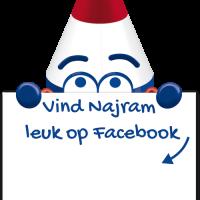 Huisstijl Najram Facebook vind me leuk oproep