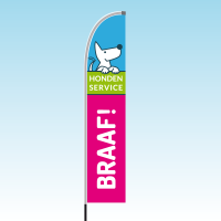Beachflag Hondenservice Braaf!