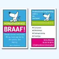 Visitekaartje  Hondenservice Braaf!