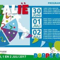 Flyer programma dorpsfeest Vledderveen