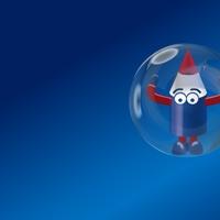 Huisstijl Najram illustratie van Pieter Pencil in zeepbel