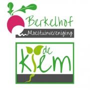Ontwerp logo Moestuinverening Berkelhof en clubhuis de Kiem