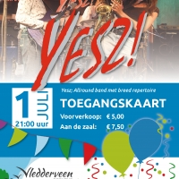 Entreeticket live band dorpsfeest Vledderveen