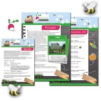 Diverse flyers Moestuinvereniging Berkelhof