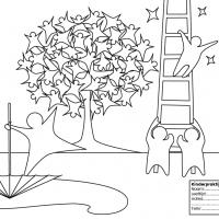 Kleurplaat Kinderpraktijk de Sterrenboom voor op bedrijvenbeurs