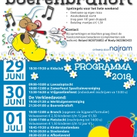 flyer Dorpsfeest 2018